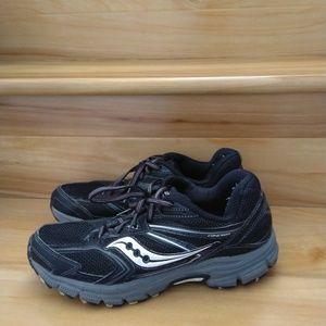 Saucony black grey women's shoes size 9